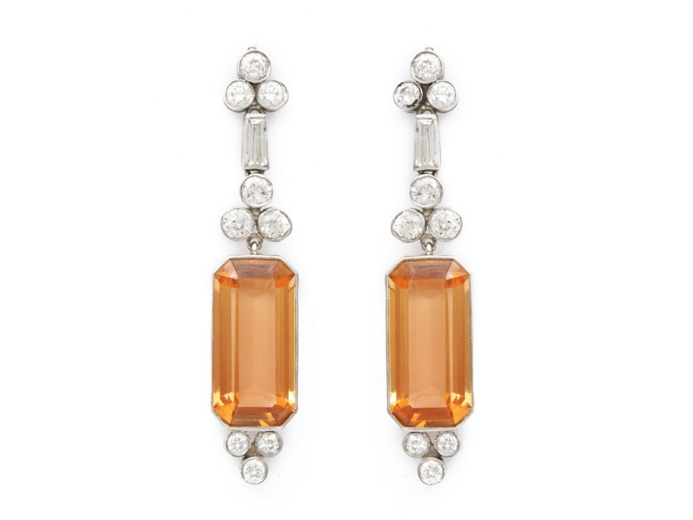 03_Art_Deco_Topaz_and_Diamond_Earrings