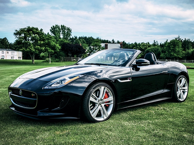 Summer is made for open-air driving, like in this Jaguar F-Type convertible